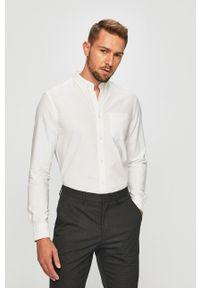 Wrangler - Koszula. Typ kołnierza: button down. Kolor: biały. Materiał: tkanina