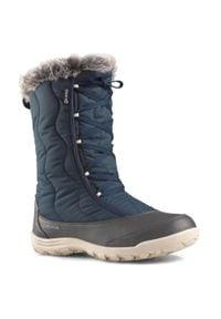 quechua - Buty turystyczne śniegowce WTP - SH500 X-WARM - sznurowane damskie. Kolor: niebieski. Materiał: materiał. Sezon: zima