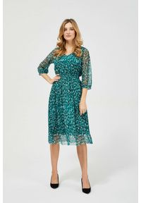 Sukienka MOODO z dekoltem w serek, midi