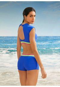 Biustonosz bikini bustier bonprix niebieski. Kolor: niebieski