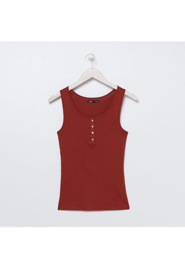 Czerwony t-shirt Sinsay