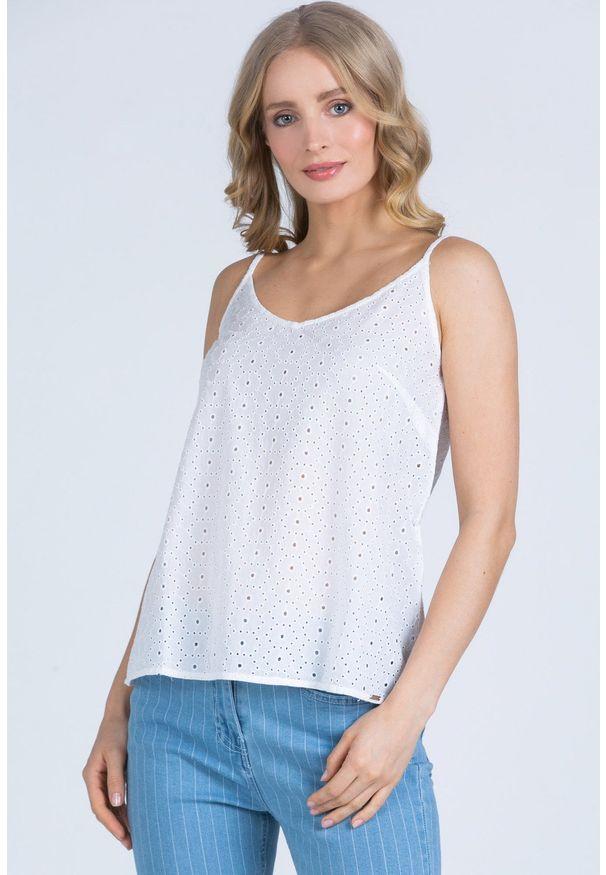 Biała bluzka Monnari bez rękawów