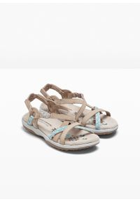 Różowe sandały bonprix z paskami