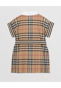 BURBERRY CHILDREN - Bawełniana sukienka w kratę 0-2 lat. Kolor: beżowy. Materiał: bawełna. Sezon: lato