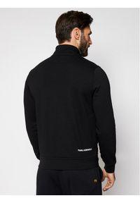 Karl Lagerfeld - KARL LAGERFELD Bluza Zip 705094 511910 Czarny Regular Fit. Typ kołnierza: dekolt w karo. Kolor: czarny