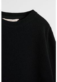 Czarny sweter Mango Kids na co dzień, casualowy, z okrągłym kołnierzem