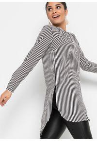 Biała bluzka bonprix z długim rękawem, w paski