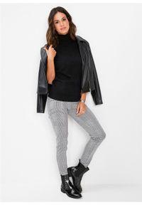Czarny sweter bonprix krótki, z krótkim rękawem