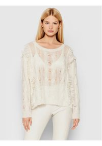 TwinSet Sweter 212TP3410 Beżowy Regular Fit. Kolor: beżowy