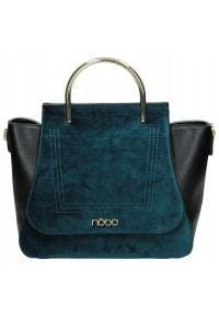 Nobo - Torebka damska kuferek NOBO NBAG-H2180-C012 czarny. Kolor: czarny. Materiał: skórzane. Styl: klasyczny, elegancki. Rodzaj torebki: na ramię