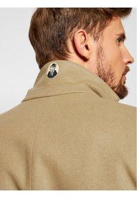 Brązowy płaszcz przejściowy #6