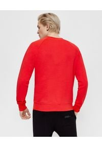 Balmain - BALMAIN - Czerwona bluza z logo. Kolor: czerwony. Materiał: bawełna. Długość rękawa: długi rękaw. Długość: długie. Styl: elegancki
