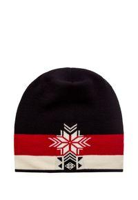 Czarna czapka Dale of Norway sportowa, w kolorowe wzory