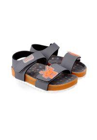 Pomarańczowe sandały Garvalin na rzepy