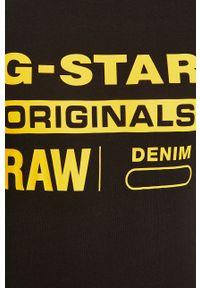 G-Star RAW - G-Star Raw - T-shirt. Okazja: na co dzień. Kolor: czarny. Materiał: dzianina. Wzór: nadruk. Styl: casual