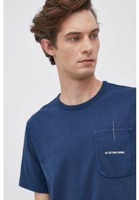 G-Star RAW - G-Star Raw - T-shirt bawełniany. Kolor: niebieski. Materiał: bawełna. Wzór: gładki