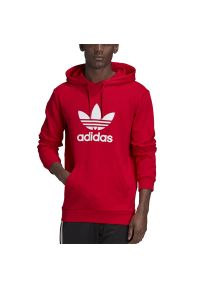 Czerwona bluza Adidas z długim rękawem, długa
