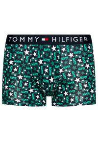 Zielone bokserki TOMMY HILFIGER z nadrukiem