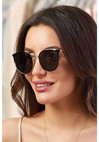 Złote okulary przeciwsłoneczne IVET