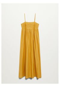 mango - Mango Sukienka letnia Adele 87039013 Żółty Regular Fit. Kolor: żółty. Sezon: lato