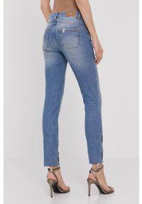 Niebieskie proste jeansy Liu Jo z aplikacjami
