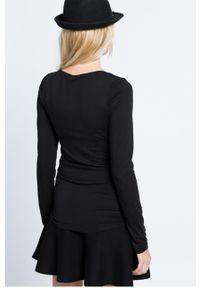 Czarna bluzka Vila długa, casualowa, na co dzień #4
