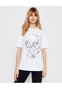 Biały t-shirt Alexander McQueen na co dzień, z nadrukiem, casualowy