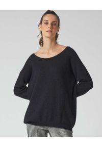 Manila Grace - MANILA GRACE - Czarny sweter z koronkowymi wstawkami. Kolor: czarny. Materiał: koronka