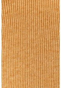 only - Only - Sweter. Okazja: na co dzień. Kolor: beżowy. Długość rękawa: długi rękaw. Długość: długie. Styl: casual