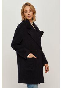 Niebieski płaszcz Stefanel klasyczny, bez kaptura