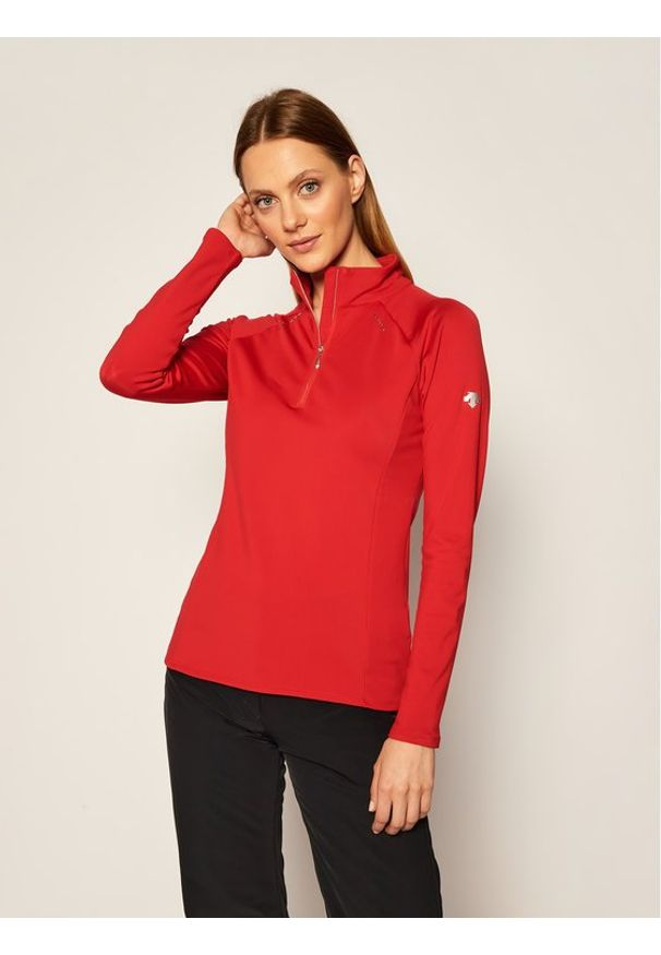 Czerwona bluza sportowa Descente