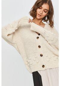 Beżowy sweter rozpinany Answear Lab na co dzień, wakacyjny