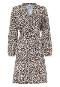 Sukienka koszulowa bonprix rdzawobrązowy w kropki. Kolor: brązowy. Wzór: kropki. Typ sukienki: koszulowe