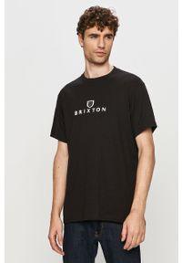 Czarny t-shirt Brixton na co dzień, z nadrukiem