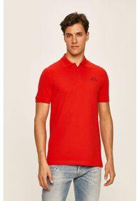 Czerwona koszulka polo Kappa casualowa, polo, krótka, na co dzień