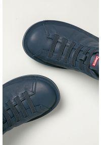 Niebieskie sneakersy Camper z cholewką, z okrągłym noskiem