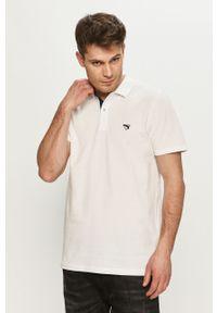Biała koszulka polo Selected na co dzień, casualowa