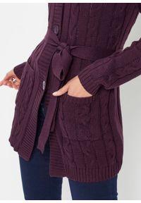 Fioletowy sweter bonprix długi, z długim rękawem