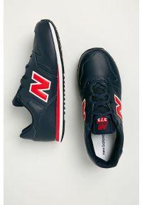 Niebieskie buty sportowe New Balance z cholewką, na sznurówki, z okrągłym noskiem