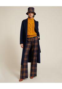 Luisa Spagnoli - LUISA SPAGNOLI - Wełniany płaszcz Scudo. Kolor: niebieski. Materiał: wełna. Styl: klasyczny