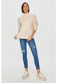 Beżowy sweter Answear Lab długi, wakacyjny