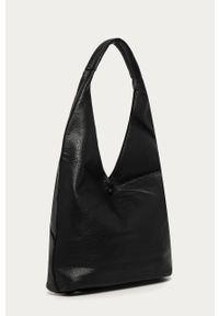Czarna shopperka Answear Lab duża, skórzana, na ramię
