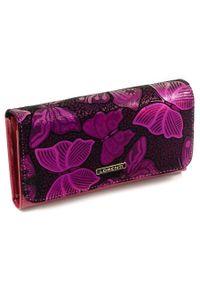 Różowy portfel LORENTI z aplikacjami
