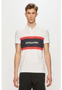 Biała koszulka polo Jack & Jones krótka, polo
