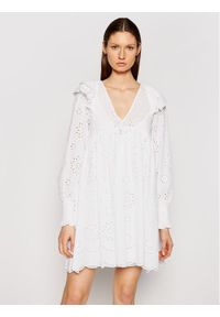 TwinSet Sukienka letnia 211TT2591 Biały Regular Fit. Kolor: biały. Sezon: lato