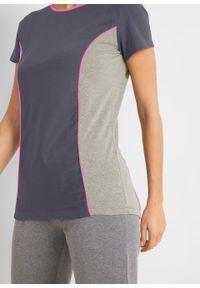 Shirt sportowy, krótki rękaw bonprix nocny niebieski - różowy neonowy. Kolor: szary. Długość rękawa: krótki rękaw. Długość: krótkie. Styl: sportowy #3