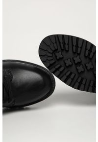Czarne botki Guess Jeans z cholewką, z okrągłym noskiem