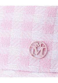 MAISON MICHEL PARIS - Czapka z daszkiem Amanda. Kolor: biały. Materiał: materiał. Wzór: aplikacja
