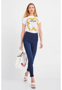 Versace Jeans Couture - T-SHIRT VERSACE JEANS COUTURE. Okazja: na co dzień. Materiał: materiał. Styl: casual