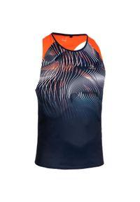 KALENJI - Koszulka do biegania bez rękawów męska Kalenji. Kolor: pomarańczowy, niebieski, czerwony, wielokolorowy. Materiał: materiał, poliester. Długość rękawa: bez rękawów